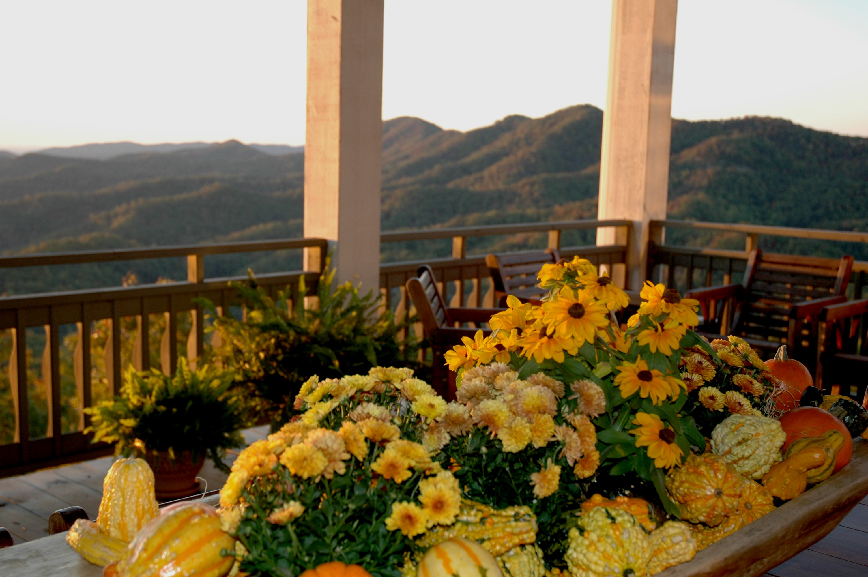 Fall Display on the front veranda