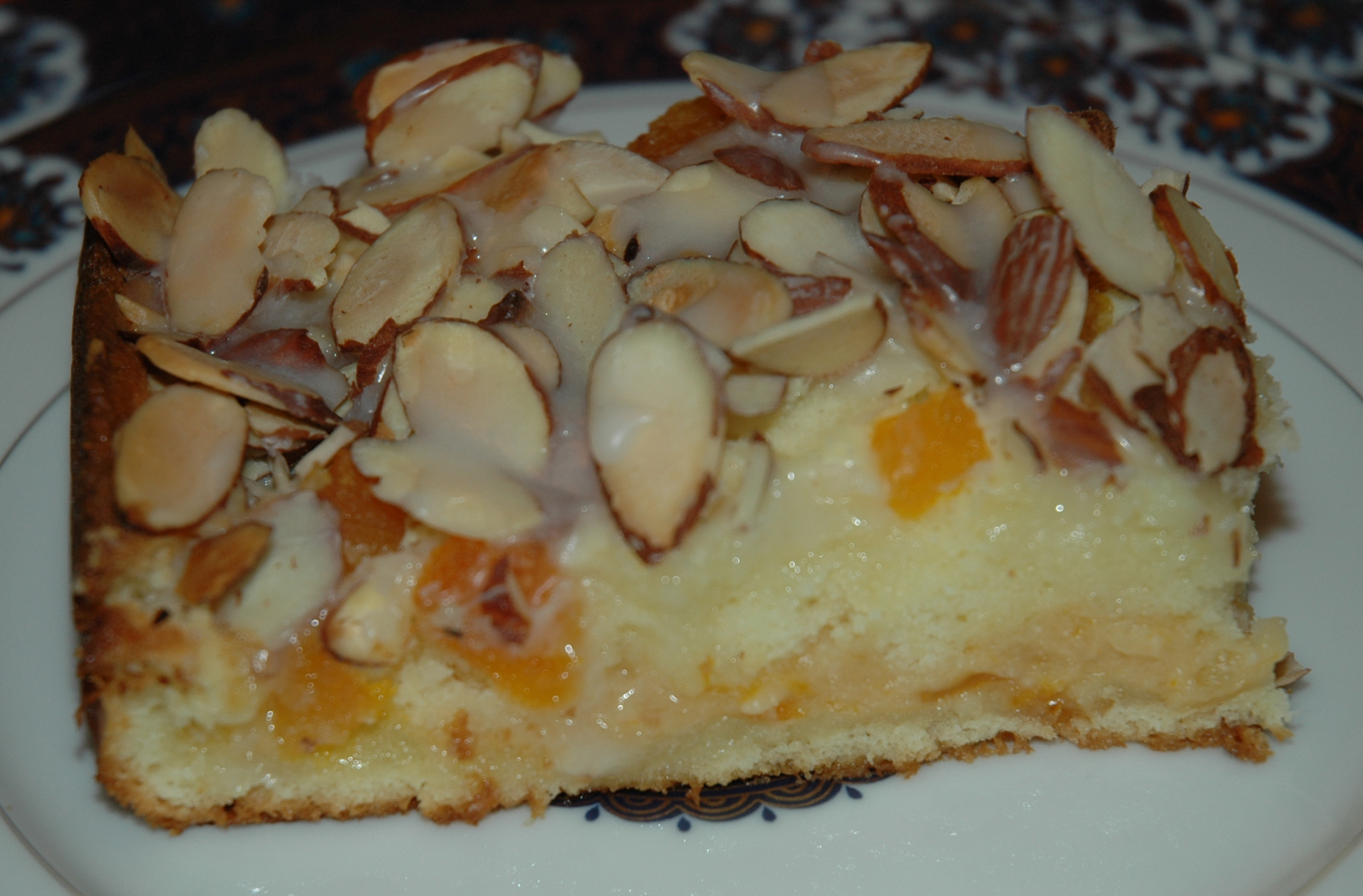 Apricot Cake Dessert Savennieres Maine Et Loire France Photographic ...