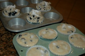 Gluten Free Blueberry Muffin Batter vs. Regular