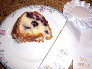 A Slice of Blueberry Almond Pound Cake