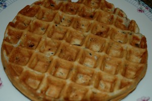 Doesn't Look Like Much, but Tastes Wonderful, Wild Rice Pecan Waffle