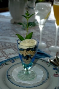 Blueberries, Granola and Lemon Creme