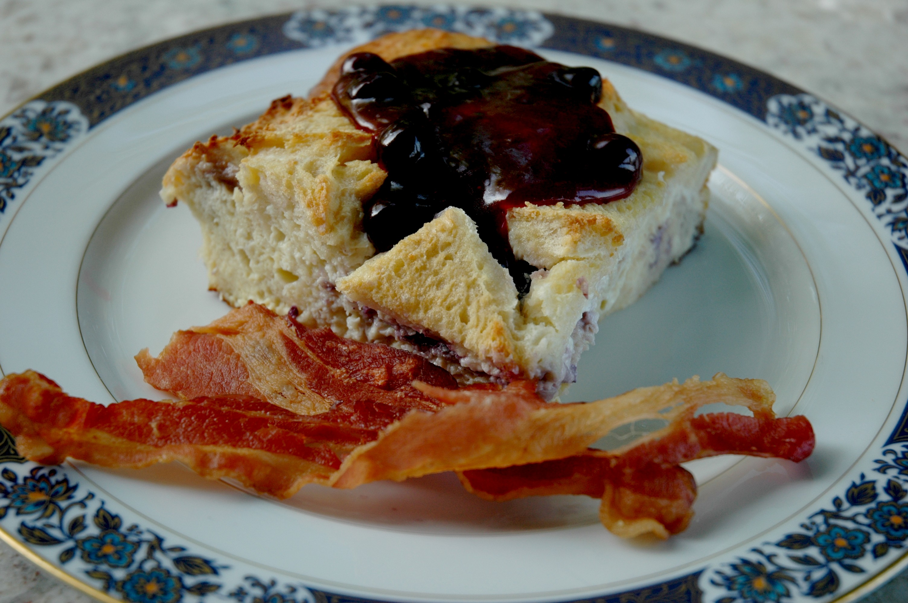 French Toast Stuffed With Blueberries And Cream Cheese Recipe ...