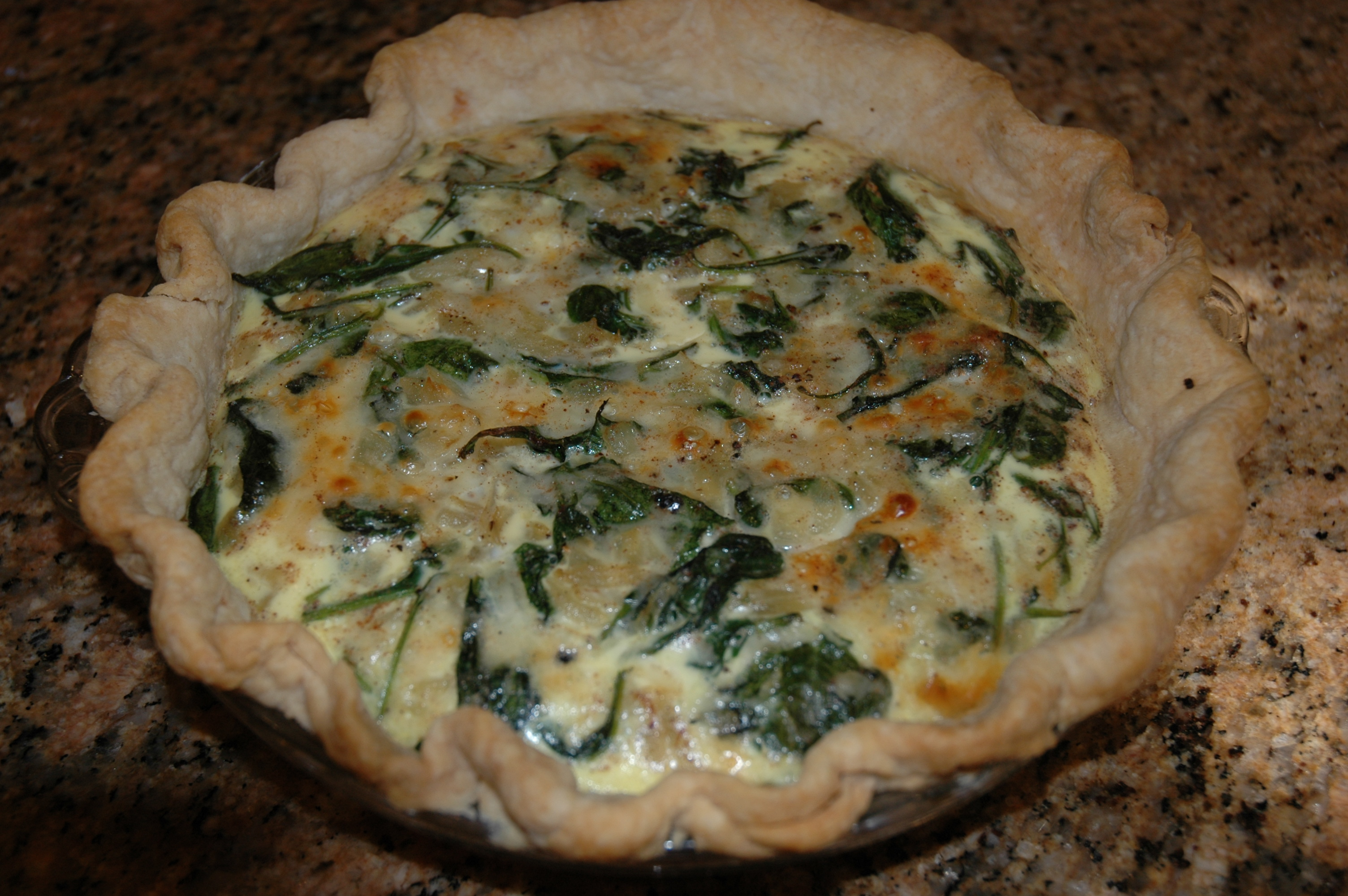 Spinach and Mushroom Quiche | Gracehill Bed and Breakfast