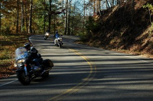 Motorcycles on the Tail of the Dragon
