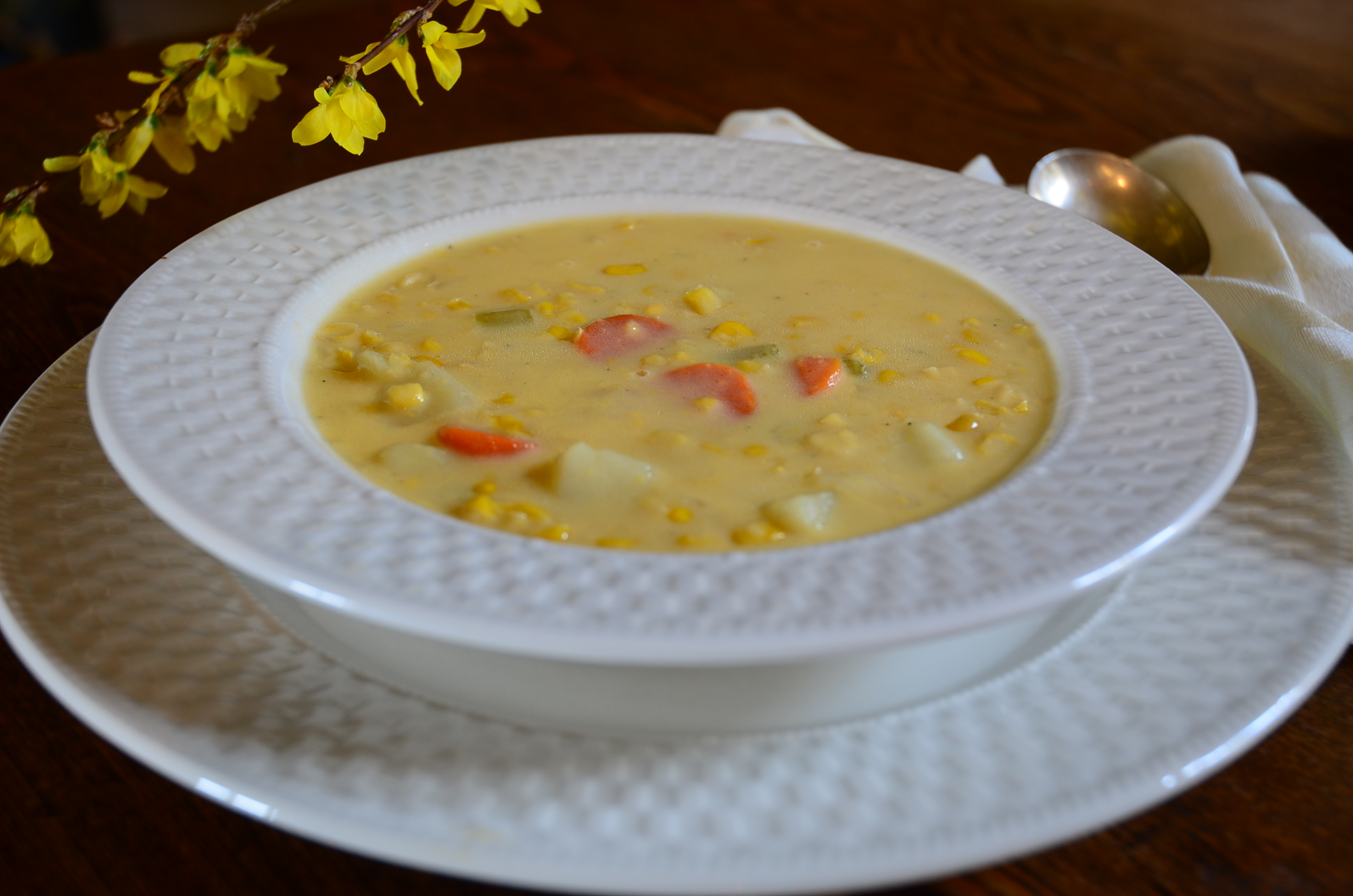 Corn Chowder and Gluten Free Corn Chowder Recipe | Gracehill Bed and ...