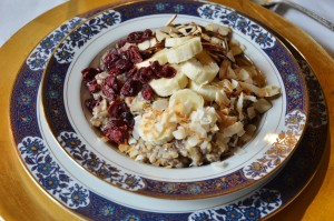 Vegan Oatmeal with Almond Milk