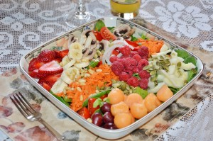 One Version of a Vegan Salad