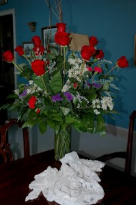Okay these roses are not from our rose garden, but they can be delivered to your room!