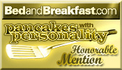 Pancakes with Personality Award from BedandBreakfast.com