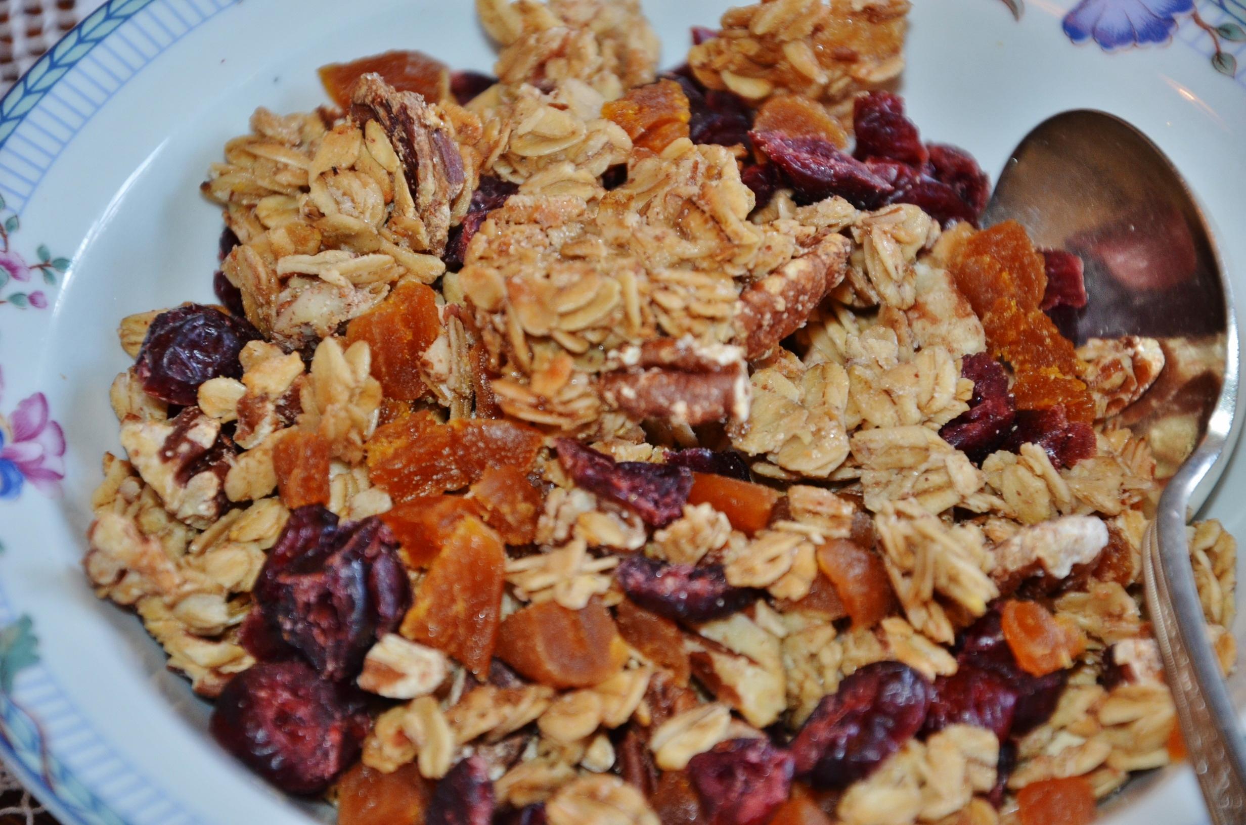 Cereal vegan pecan granola w dried fruit gracehill bed and vegan pecan and dried fruit homemade granola ccuart Gallery