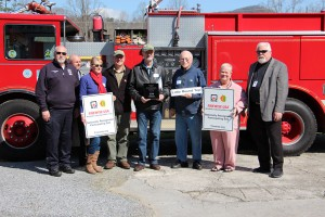 Don Stallions- Chief of the Townsend Volunteer Fire Department, Lance Coleman- Director of Blount County Emergency Management, Gayle Bustin, Darren Baily- Dept of Forestry, Bruce Carrington, Ed Dewhitt, Kathleen Janke, Ed Mitchell- Blount County Mayor.