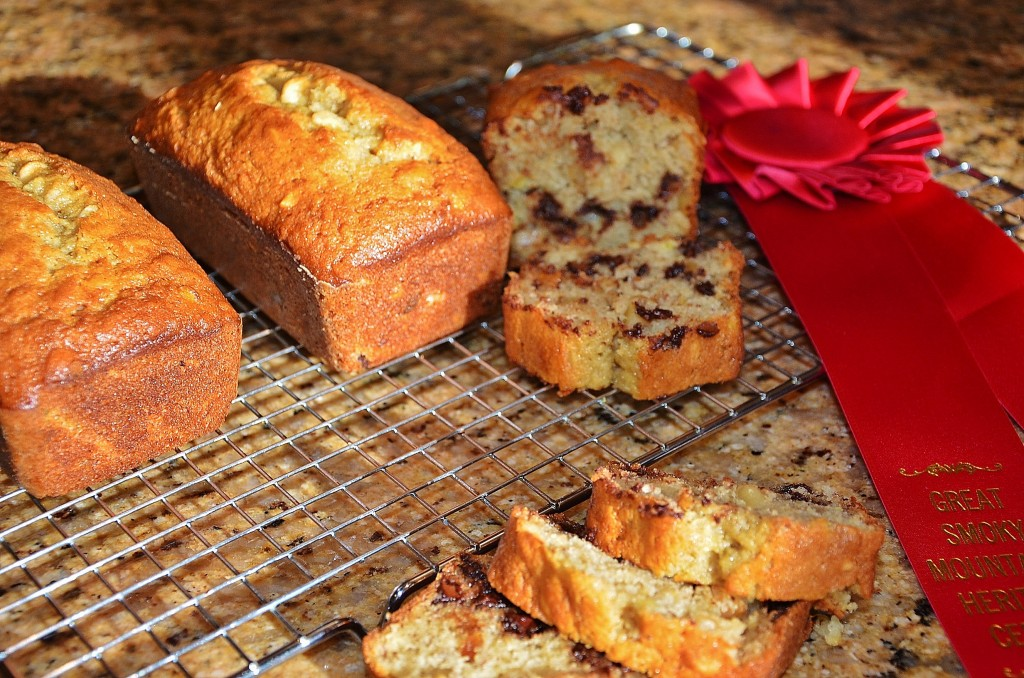 This chocolate orange banana nut bread is a great way to use up soft bananas