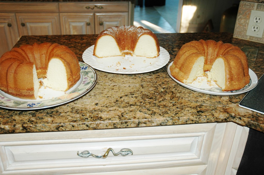 Claims to be Elvis's favorite pound cake and this is me doing test batches.