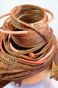 Handmade basket by Kathleen Janke, GB229